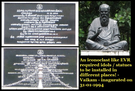 EVR statue at Vaikam 31-01-1994